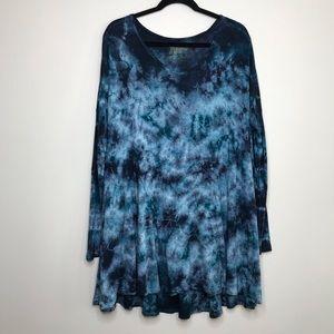 Show Me Your Mumu Blue Tie Dye Tunic Dress
